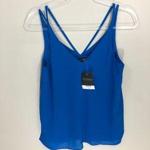 Topshop Blue Tank Blouse NWT 4